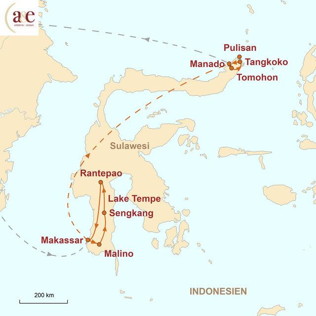 Reiseroute unserer Indonesien Reise Im Reich der Nashornvögel