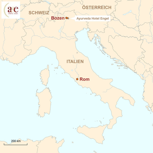 Karte Italien Ayurveda