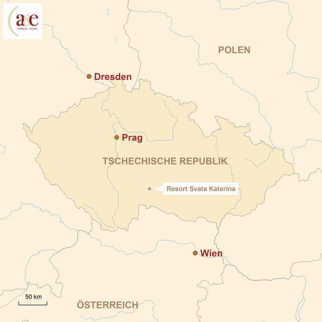 Karte Tschechien
