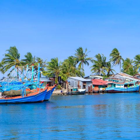 Fischerboote auf Phu Quoc, Vietnam