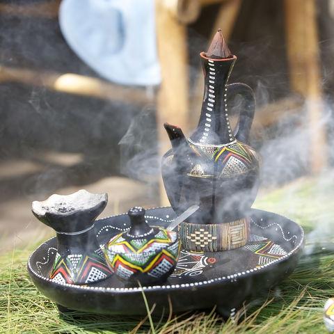 Traditionelles ähtiopisches Kaffee-Set, Äthiopien