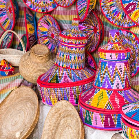 Handgemachte Habesha Körbe in Axum, Äthiopien