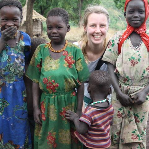 Gesa mit Kindern, Äthiopien