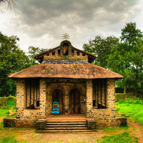 Debre Birhan Selassie Kirche in Gondar, Äthiopien