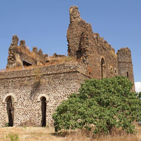 Historische Palastruine Guzara in Gondar, Äthiopien