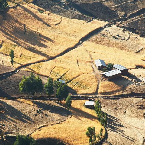 Die Landschaft Äthiopiens aus der Vogelperspektive, Äthiopien