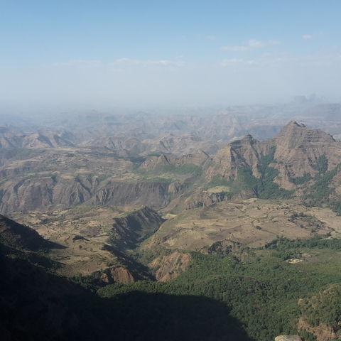 Der Simien-Nationalpark von oben, Äthiopien