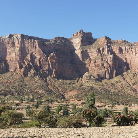 Felsen in der Nähe von Adigrat in der Tigray Region, Äthiopien