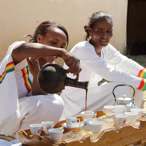 Traditionelle Kaffeezeremonie, Äthiopien
