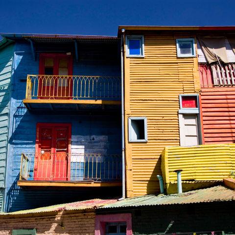 Die bekannte Caminito Straße in Buenos Aires, Argentinien