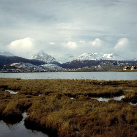 Schneebedeckte Berge in Ushuaia, Argentinien