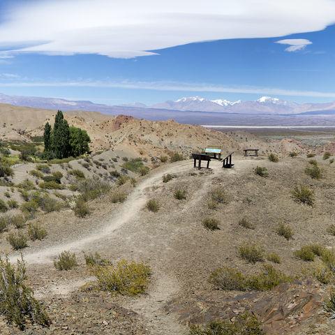 Blick über die Pampa del Leoncito, Argentinien