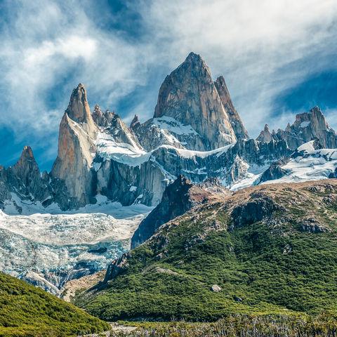 Spektakuläre Felsnadeln des Fitz Roy, El Chaltén, Patagonien, Argentinien