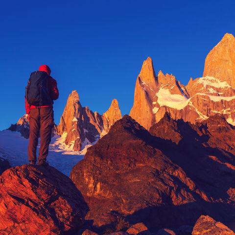 Wanderer in der Fitz Roy Region in Patagonien © Galyna Andrushko, Dreamstime.com
