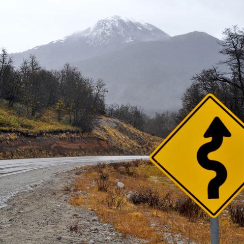 National Route 234 in San Martin de los Andes, Argentinien