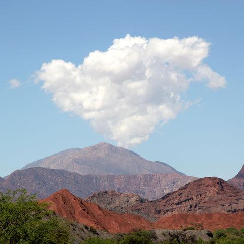 Wolke über der Wüste, Argentinien