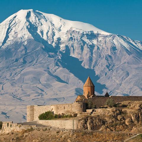 Kloster Chor Virap im Schatten des Ararat, Armenien
