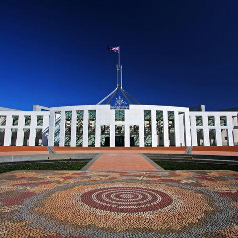 Parlamentsgebäude in Canberra, Australien