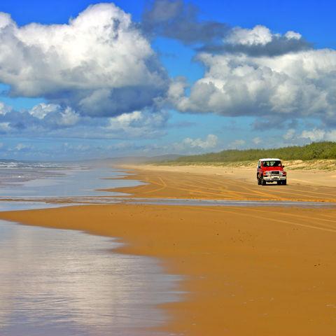 Autostrand auf Fraser Island, Australien