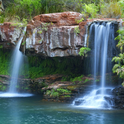 Fantastisches Planschbecken: Fern Pool, Karijini Nationalpark, Westaustralien, Australien