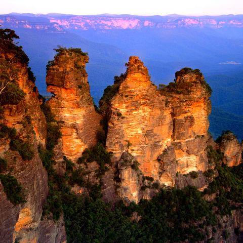 Three Sisters in den Blue Mountains, Australien