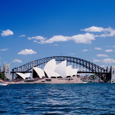Das Opernhaus und die Harbour Bridge von Sydney, Australien