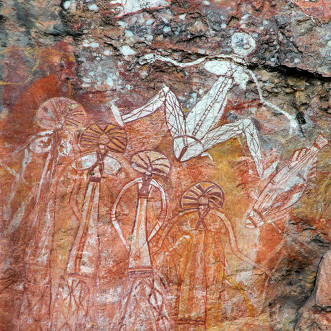 Felsmalereien der Aborigines am Nourlangie Rock, Kakadu Nationalpark, Northern Territoy, Australien