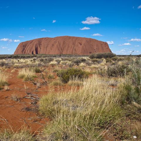 Uluru im australischen Outback, Australien
