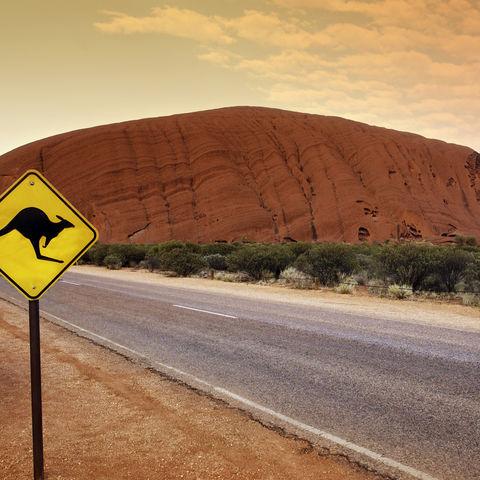 Die berühmte & heilige Sehenswürdigkeit Uluru, Australien