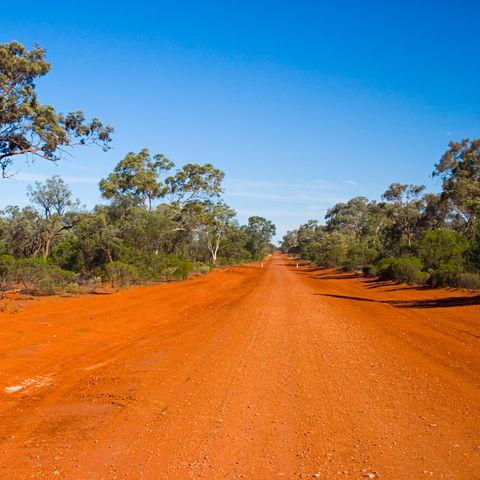 Straße im Outback, Australien