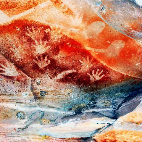 Handmalerei am Carnarvon Gorge, Australien
