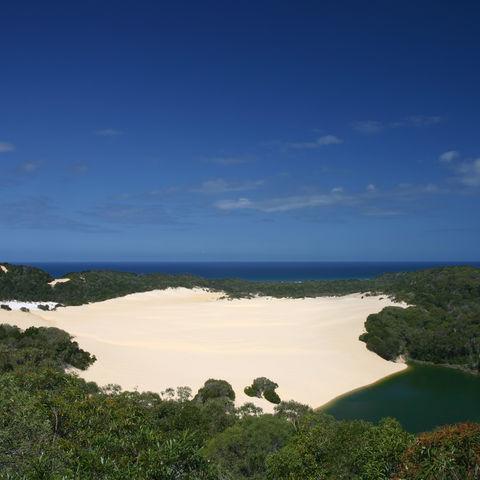 Lake Wabby auf Fraser Island, Australien