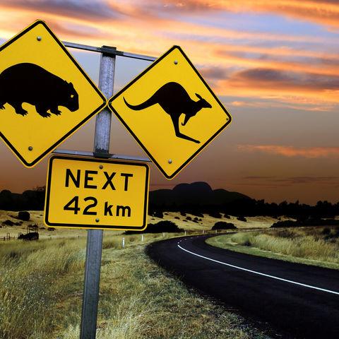 Straßenschilder, Australien