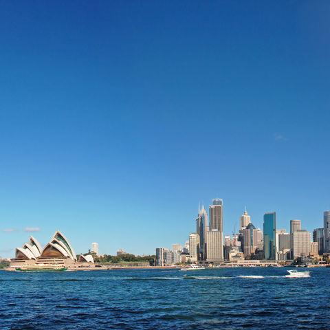 Oper und Hafenbrücke in Sydney, Australien