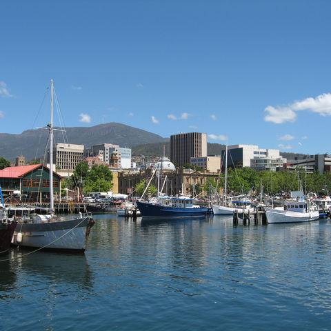 Hafen von Hobart, Australien