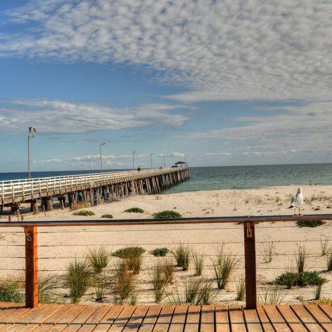 Strand in Adelaide, Australien