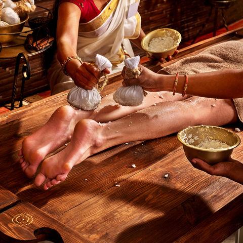 Fußmassage mal anders, Ayurveda