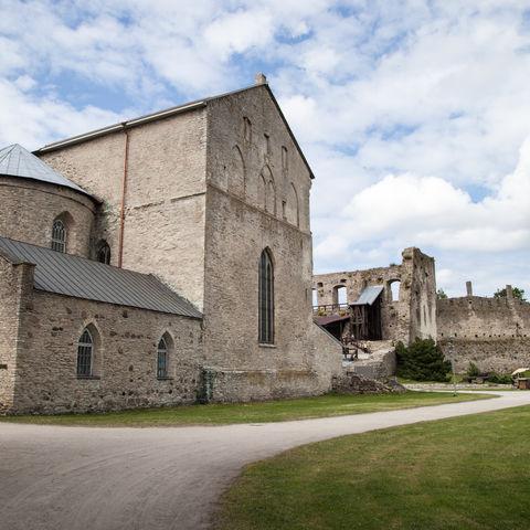 Die Bischofsburg in Haapsalu, Estland