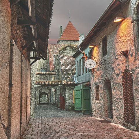 Straße in Tallinns Altstadt, Estland