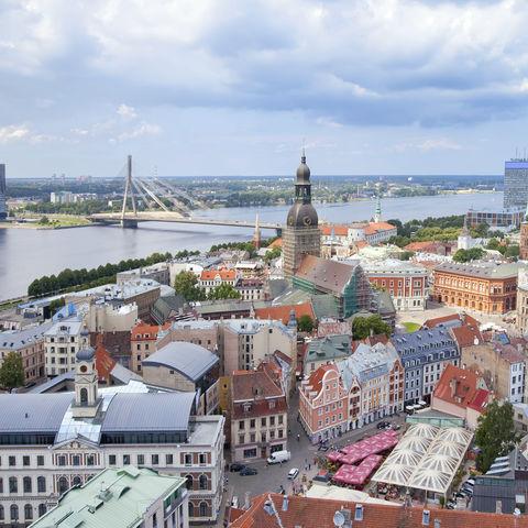 Stadtbild von Riga, Lettland