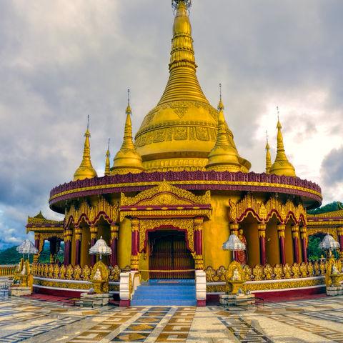 Der goldene Tempel in Banderban, Bangladesch