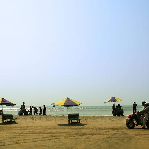 Der Strand von Cox's Bazar, Bangladesch