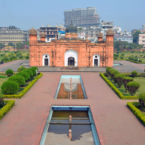 Das rote Lalbagh-Fort, Bangladesch