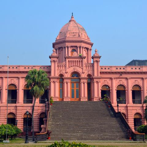 Der pinke Palast Ahsan Manzil, Bangladesch