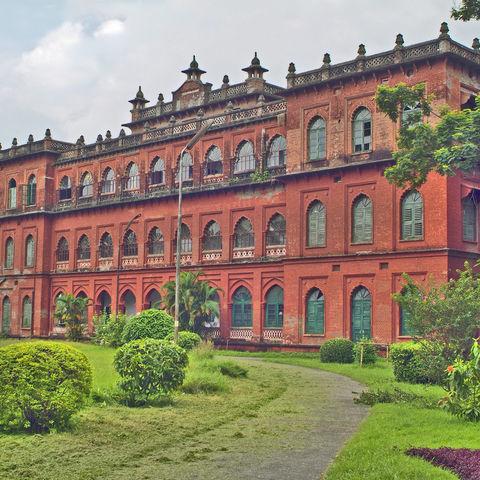 Die Curzon Halle als Teil der Fakultät der Wissenschaften, Dhaka, Bangladesch
