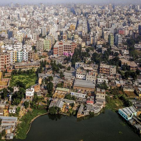 Dhaka aus der Vogelperspektive, Bangladesch