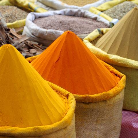 Typischer Gewürzmarkt, Bangladesch