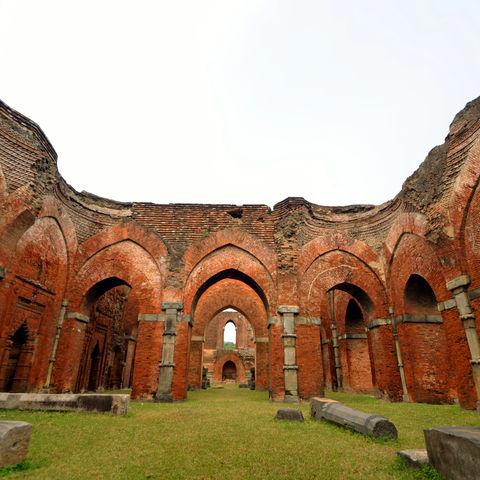 Die Darasbari Moschee in Rajshahi, Bangladesch