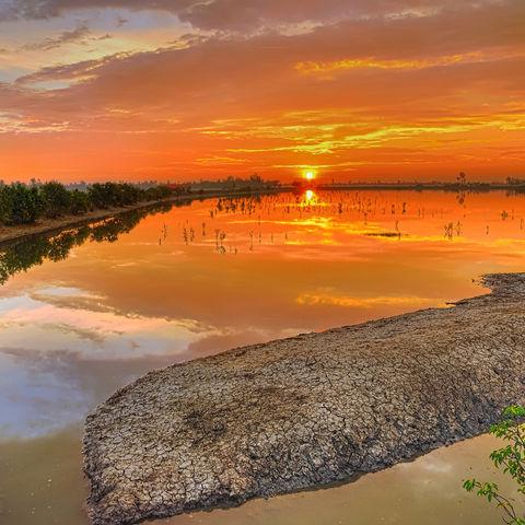 Den Sonnenaufgang in den Sundarbans genießen, Bangladesch