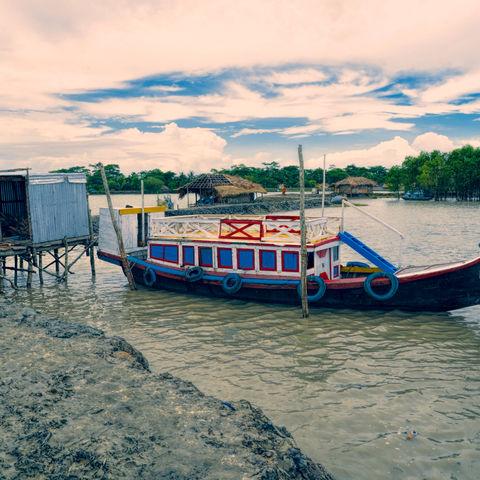 Traditionelles Flussboot, Sundarbans, Bangladesch
